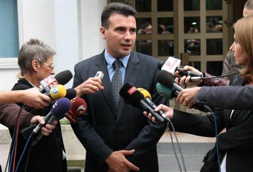Зоран Заев пред медиумите. Фото: СДСМ