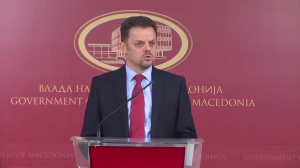 Потпретседателот на Владата и министер за финансии, Зоран Ставрески на прес конференција