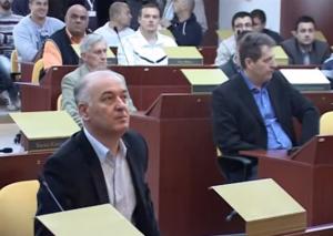 Битолскиот градоначалник Владимир Талевски во Советот на градот. Фото: видео клип скриншот