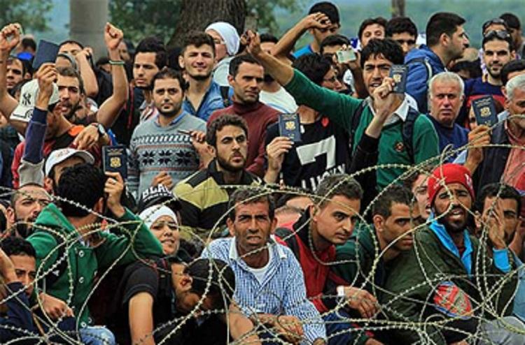Бегалци на македонска граница      Фото: Скриншот