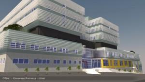 Новата штипска болница, според проектот. Фото: Министерство за здравство