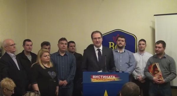 Zhernovski revelead desperate attempts of VMRO-DPMNE to hide the traces. Photo: Screen shot