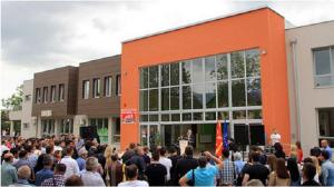 """Од  официјалното пуштање во употреба на новиот објект на ОУ """"Григор Прличев"""" во Железара,  Фото: Скриншот"""
