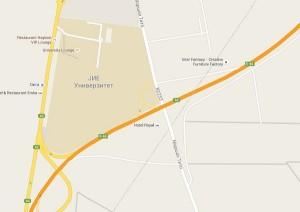 Исклучување и вклучување можно само кај Универзитетот на ЈИЕ, отспротива ништо. Фото: Google Maps скриншот.