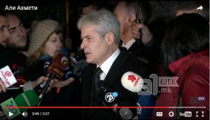 Ахмети: Прво не може избори без опозиција, па може избори без опозиција Фото: Скриншот