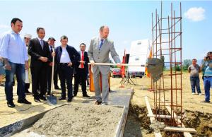 Новото средно училиште во Сарај почна да се гради на 7 јули 2013 година   Фото: Скриншот