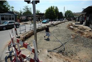 Комплетното завршување на  една од најфреквентните улици во Гази Баба ќе се пролонгира до 2017 година   Фото: Принтскрин (Нова Македонија)