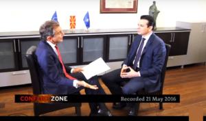 Жестоко интервју на новинарот на Дојче Веле, Мишел Фридман со министерот Никола Попоски                           Фото: Принтскрин
