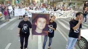 Протестите после убиството на Мартин Нешкоски едни од најголемите дотогаш. Фото: emagazin.mk