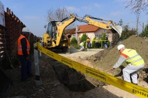 Од почетокот на третата фаза од  изградбата на фекалниот колектор во Инџиково. Фото: Принтскрин