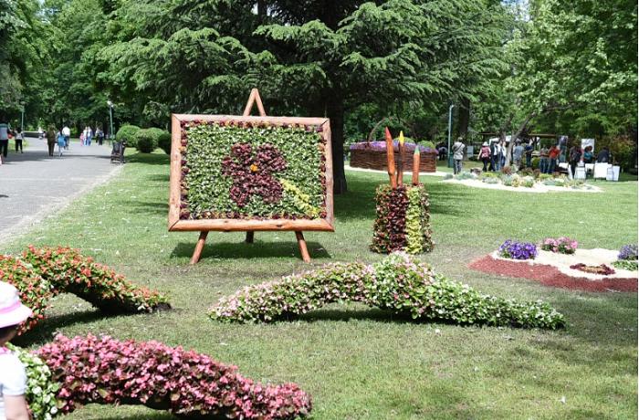 Цветниот фестивал по третпат се одржа во Градскиот парк во Скопје  Фото: Принтскрин