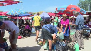 "Пазарот ""Чешел"" во Струмица  Фото: Принтскрин"