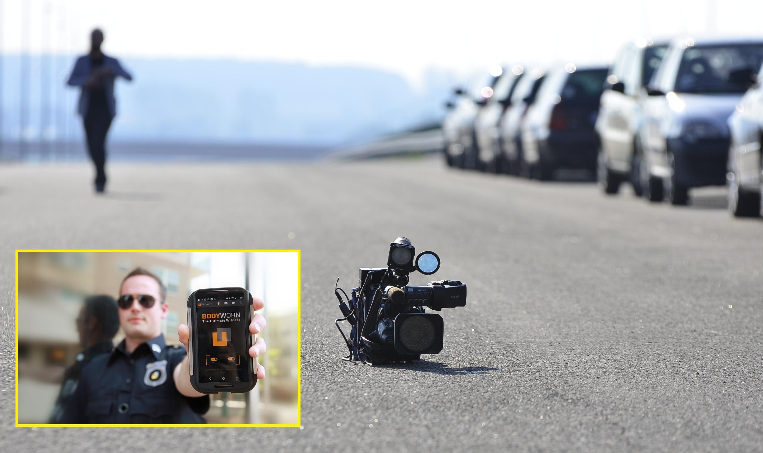 """Полициско снимање: класична камера и камера за на тело со име """"Ултимативен сведок"""". Фото: pexel/pixabay"""