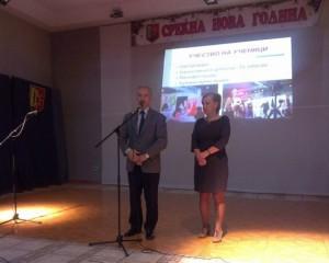 На патронатот на училиштето, во декември минатата година, Митровски не ја спомена изградбата на новиот објект Фото: Принтскрин