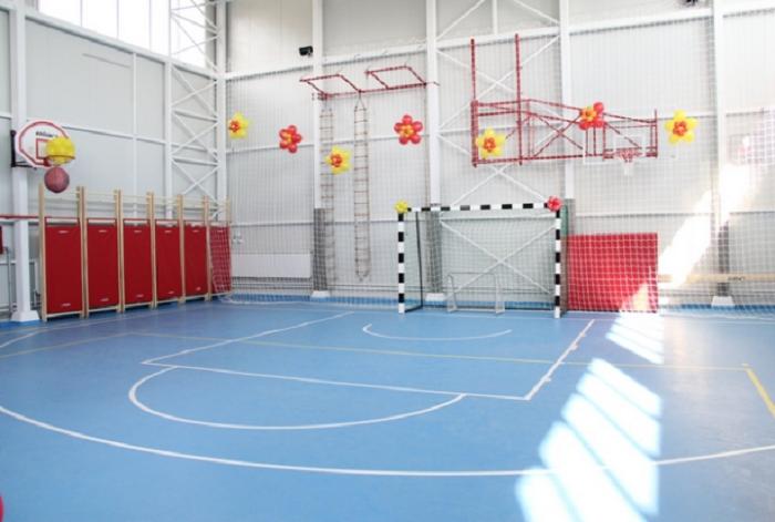 """ОУ  """"Гоце Делчев"""" во Лисиче доби нова спортска сала во ноември 2013 години , по речиси 90 години постоење. Фото: Принтскрин"""