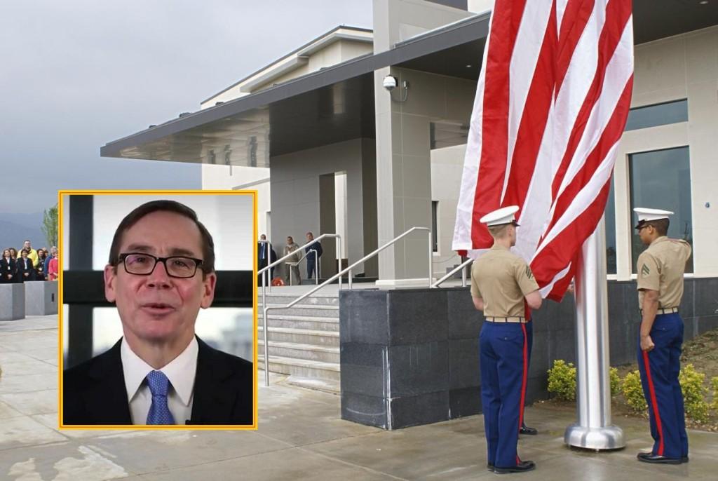 Kërcënohet Ambasada Amerikane dhe ambasadori Xhes Bejll i. Foto: wikipedia/youtube