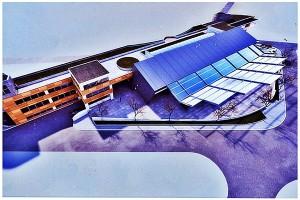 Идејното решение за комплексот кој ќе го вклучува и новиот градски пазар. Фото: Скриншот