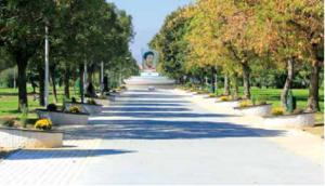 Пешачката патека е широка 7 метри, а долга 550 метри.  Фото: Принскрин Општина Аеродром