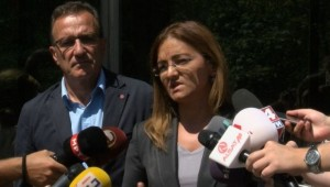 Gordana Jaankullovska pas hetimit nga PSP. Foto: skrinshot
