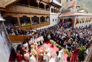 Во септември 2009 година целосно беа опожарени конаците, трпезаријата и библиотеката на манастирот Фото: Принтскрин  Минстерство за култура