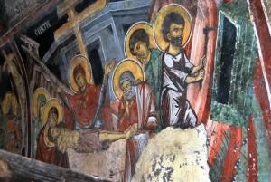 Конзеврацијата на фрескоживописот кој датира од 13 и 17 век финишираше летото 2015 година. Фото: Принтскрин