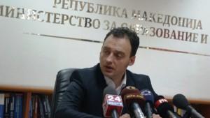 Ristovski i huqi afatet: Foto: Ministria e arsimit dhe shkencës.