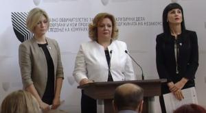 L. Ristovska, K.Janeva dhe F. Fetai. Foto: screenshot.