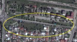 """Проширувањето на улицата """"Босна и Херцеговина"""" не е е почнато. Фото: принтскрин"""
