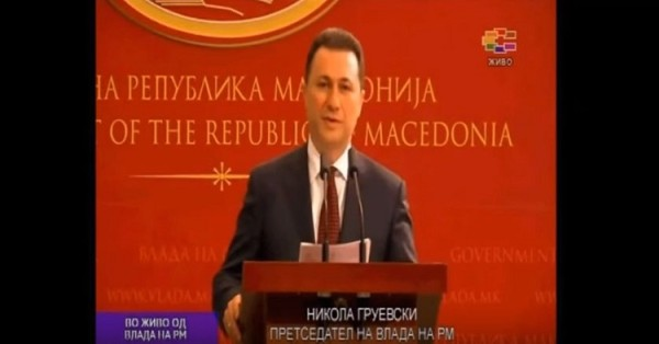 Nikola Gruevski announcing that foreign secret services and Zoran Zaev have spied on him, officials and citizens, but he accepted reforms five months later. Photo: Screenshot