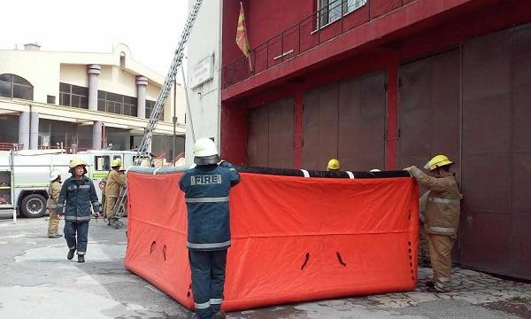 Пожарникарите сѐ уште во старата станица. Фото: Принтскрин