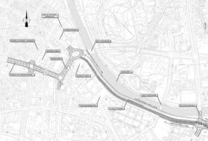 Изградбата на подземната сообраќајница од Комплекс банки до Влада, според ветувањето, би почнала во 2019 година. Фото: Скриншот
