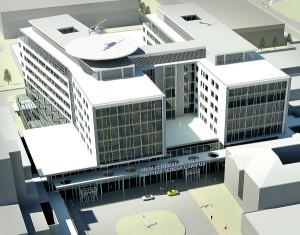 Ако се запази најновиот рок, клиничкиот центар ќе биде готов точно 10 години откако првпат се споменува ваков комплекс. Фото: Скриншот
