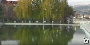 Според Димитровски, базенот можеби и во иднина ќе биде непокриен. Фото: Скриншот од ТВ прилог на Канал 8.
