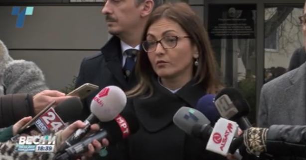 Јанкуловска пред Обвинителството кое не го признава. Фото: Скриншот