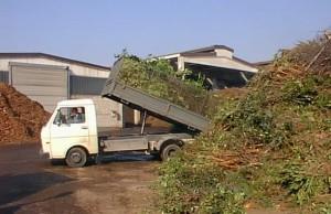 Shkarkim i mbeturinave për të kompostuar pleh. Foto: wikipedia.