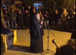 """Свештеникот Агатангел откако побара да се """"преброиме"""" , повика да се """"сплотиме"""", но само Македонците?!  Фото: скриншот"""