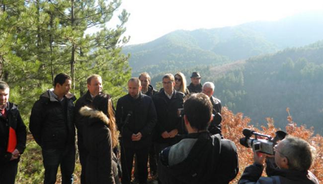 Vetëm informata për ndërtimin e digës Konska. Foto: Printscreen.