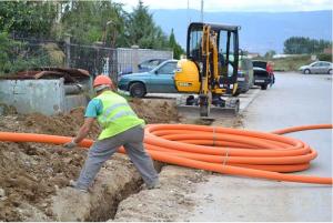 """Në gusht të vitit 2013 NP """"Strumica-gas"""" zyrtarisht filloi me kyçjen e amvisërive me gaz natyror. Foto: ueb-faqja e Komunës së Strumicës."""