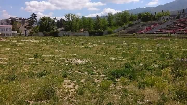 """Stadiumi """"Goce Dellçev"""" në Prilep. Foto"""" Plusinfo."""