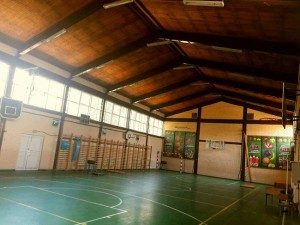 """Спортската сала во ОУ """"Љубен Лапе"""" Фото: Општина Аеродром"""