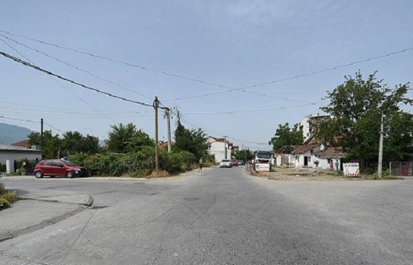 """Улицата """" 4 Јули"""" (""""Борис Серафов"""") пред проширувањето Фото: Град Скопје"""