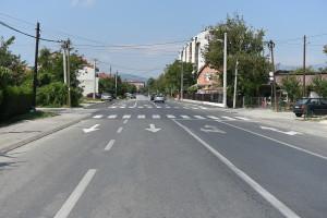 """Улицата  """"4 Јули"""" (""""Борис Сарафов"""" ) по проширувањето Фото: Град Скопје"""