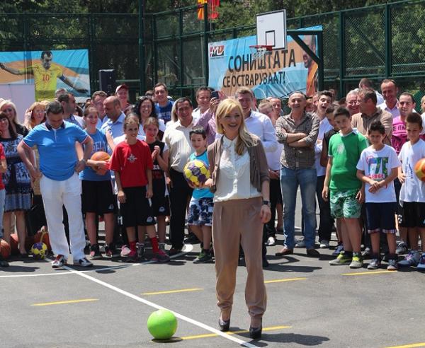 Од свеченоста по повод пуштањето во употреба на игралиштето во с.Драчево Фото: Веб-страница на Општина Кисела Вода