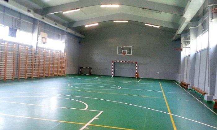 "Salla e sportit në SHF ""Dimitar Makedonski"" Foto: Komuna Aerodrom."