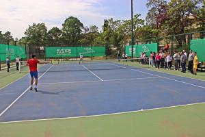 """Fusha e tenisit në SHF """"Grigor Përliçev"""" Foto: Komuna Gazi Baba"""
