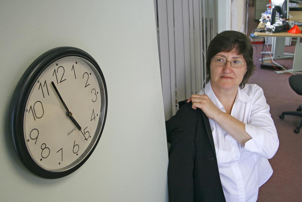 Kohë për në shtëpi.  Të paktën për ata administratorë të cilët janë paraqitur në punë. Foto: Alan Cleaver, 2008