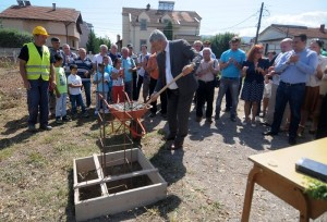 Foundation stones have been set for the kindergarten in Bardovci, promised back in 2013. Photo: Jakimovski's official Facebook page