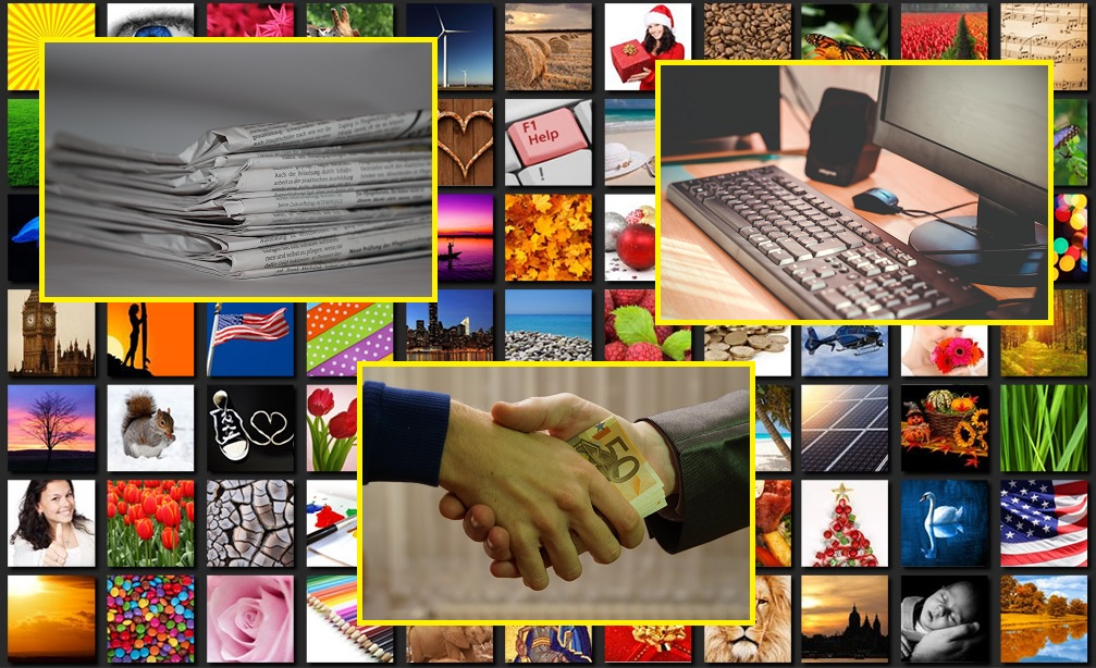 Information means power. Therefore, free access to it is indispensable. Photo: pexels/pxhere/Wikimedia. Collage: Truthmeter