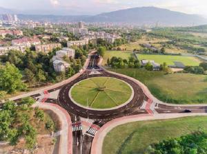 Најголемиот кружен тек во Скопје е пуштен во употреба во јули 2016 година Фото: Веб - страница на  Град Скопје