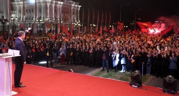 Многу митингаши - малку гласачи. Фото: ВМРО-ДПМНЕ, веб страна